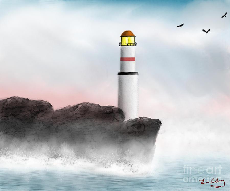 Light Digital Art - Beacon by Thomas OGrady
