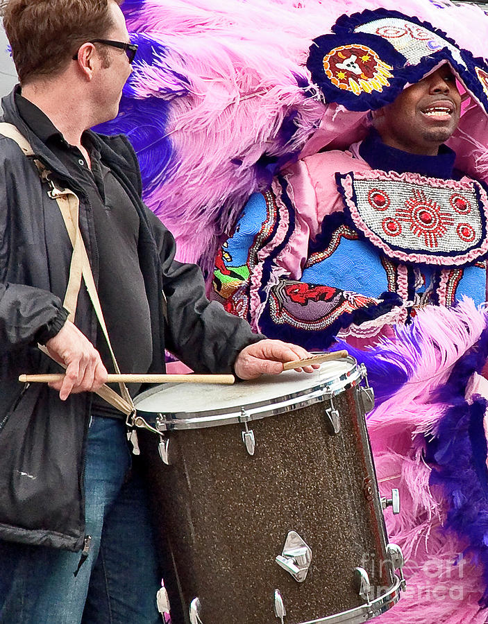 Mardi Photograph - Beads And Feathers At Mardi Gras by Kathleen K Parker