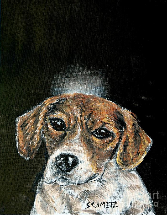 Beagle Painting - Beagle Angel by Jay  Schmetz