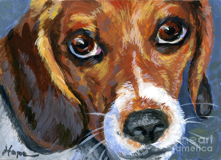 Beagle Painting - Beagle by Hope Lane