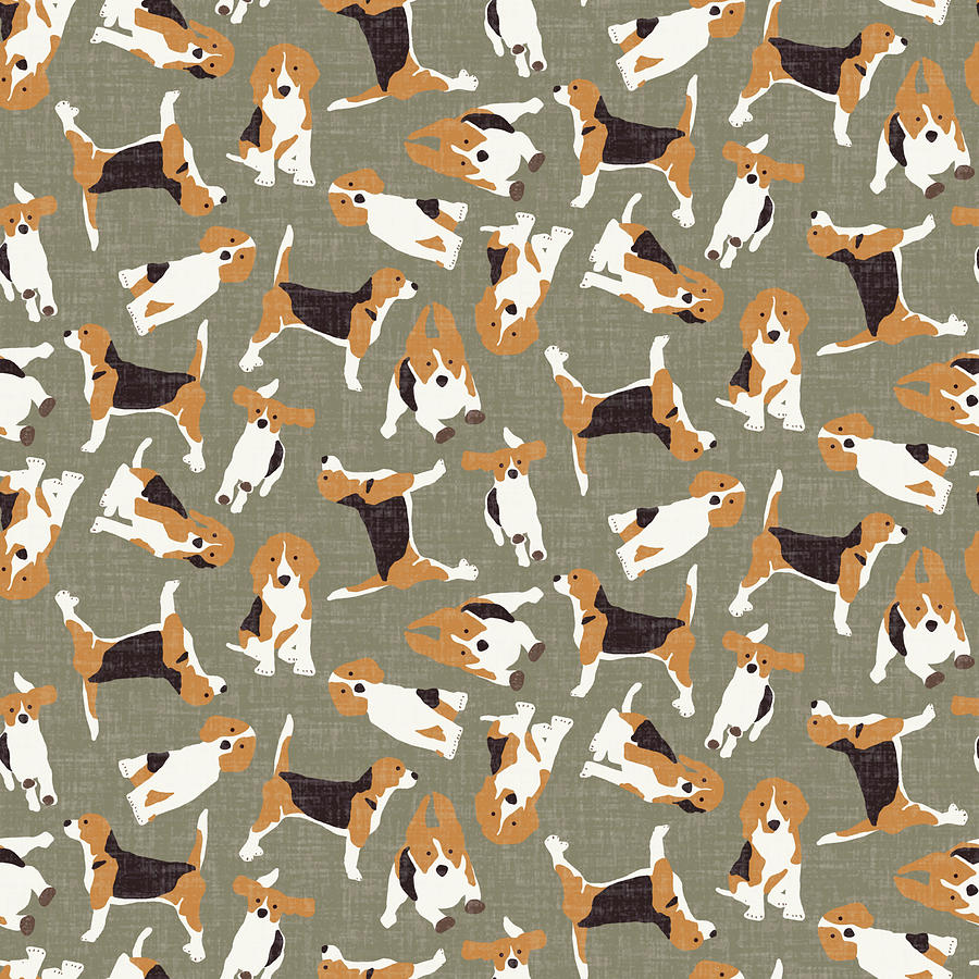 Beagle Drawing - Beagle Scatter Stone by MGL Meiklejohn Graphics Licensing