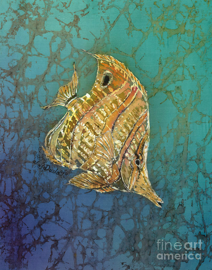 Fish Painting - Beaked Butterflyfish by Sue Duda