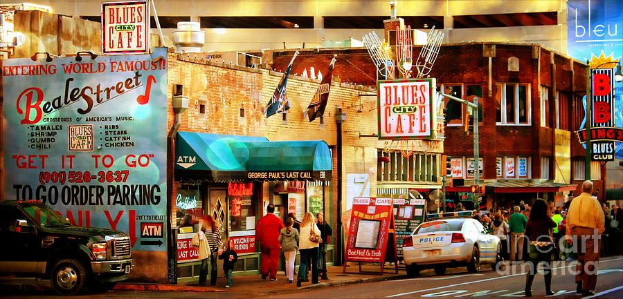 Beale Street Photograph - Beale Street by Barbara Chichester