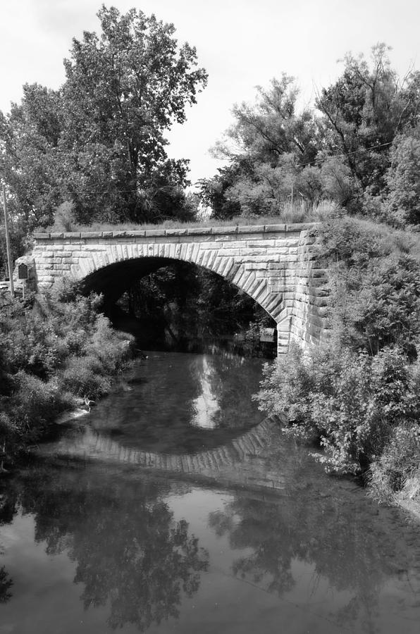Old Bridges Photograph - Bean Creek Stone Arch Bridge by Jennifer  King