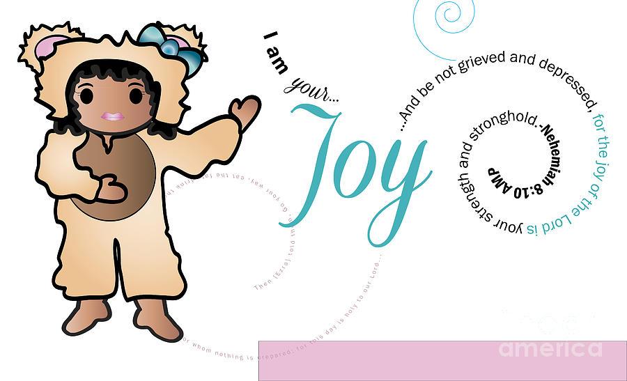 Bear Digital Art - bear fruit -Joy by Affini Woodley