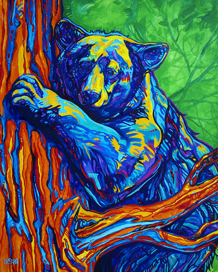 Bear Painting - Bear Hug by Derrick Higgins