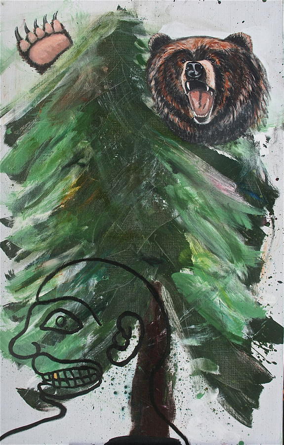 Nature Painting - Bear Hunting by Dan Koon