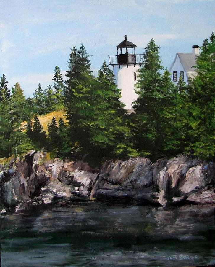 Lighthouse Painting - Bear Island Lighthouse by Jack Skinner