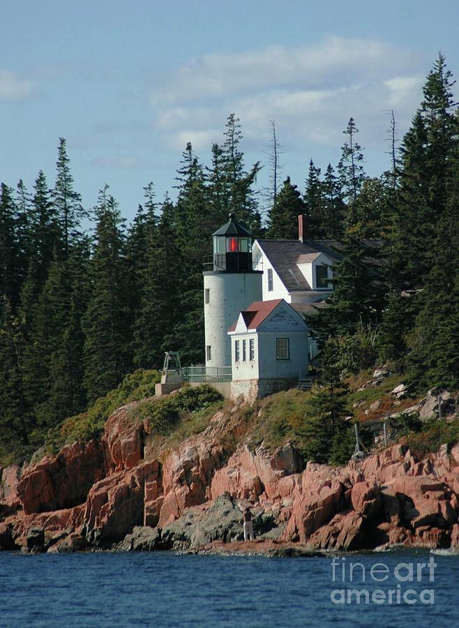 Bear Photograph - Bear Island Lighthouse by Kathleen Struckle