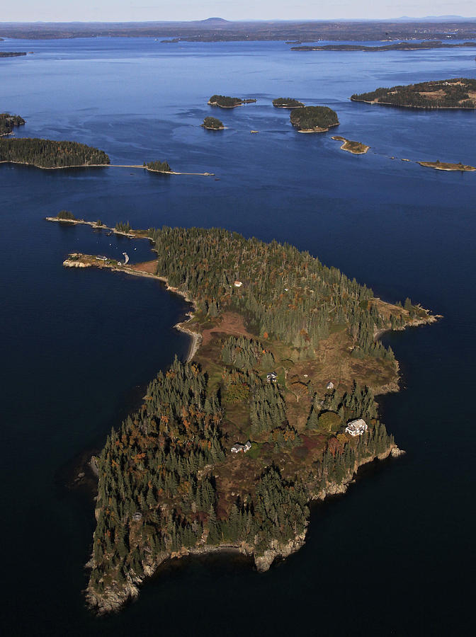America Photograph - Bear Island, Penobscot Bay by Dave Cleaveland