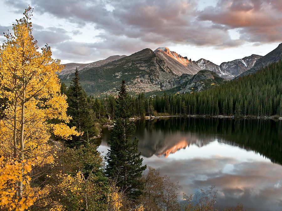 Rocky Mountain National Park Photograph - Bear Lake Sunset by Robert Yone