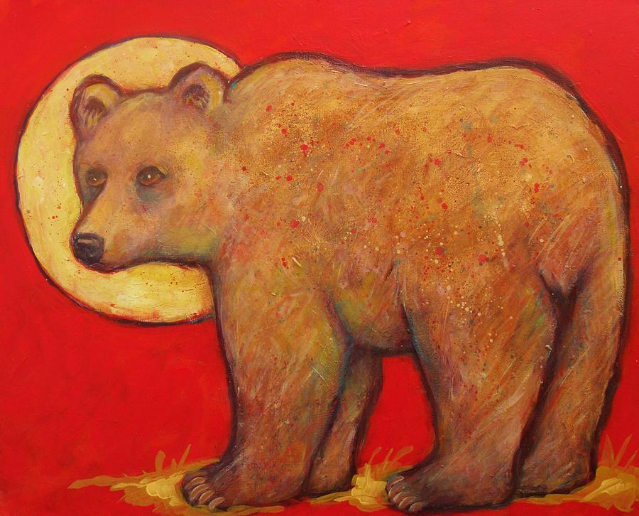 Bear Looks Back Painting