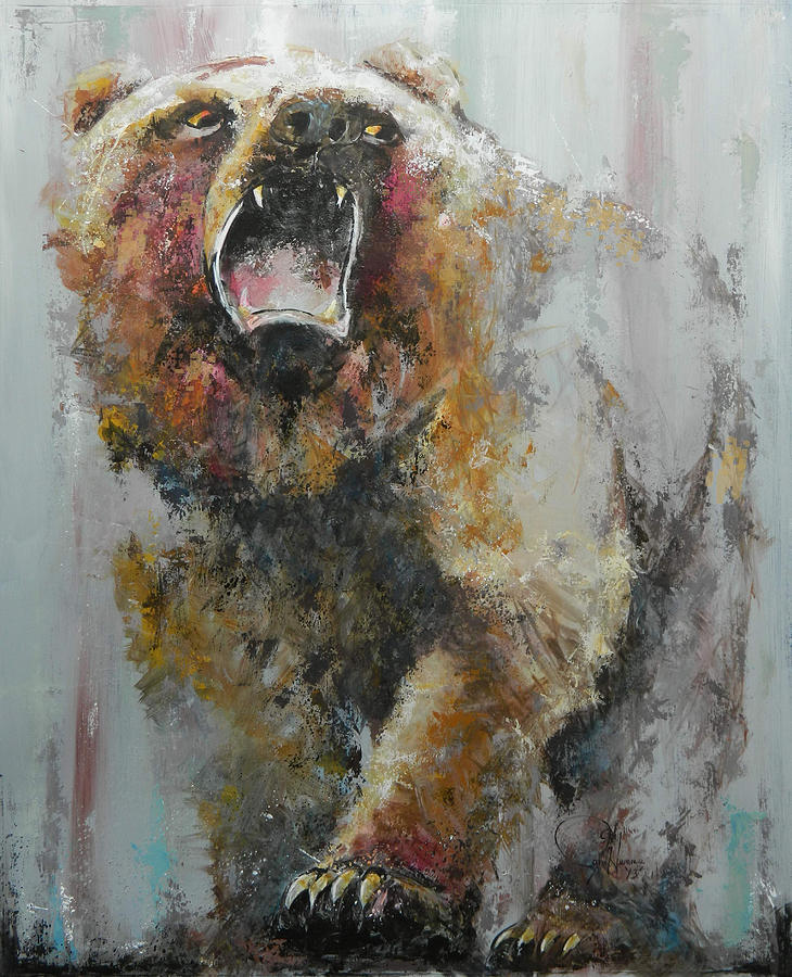 Bear Market Painting By John Henne