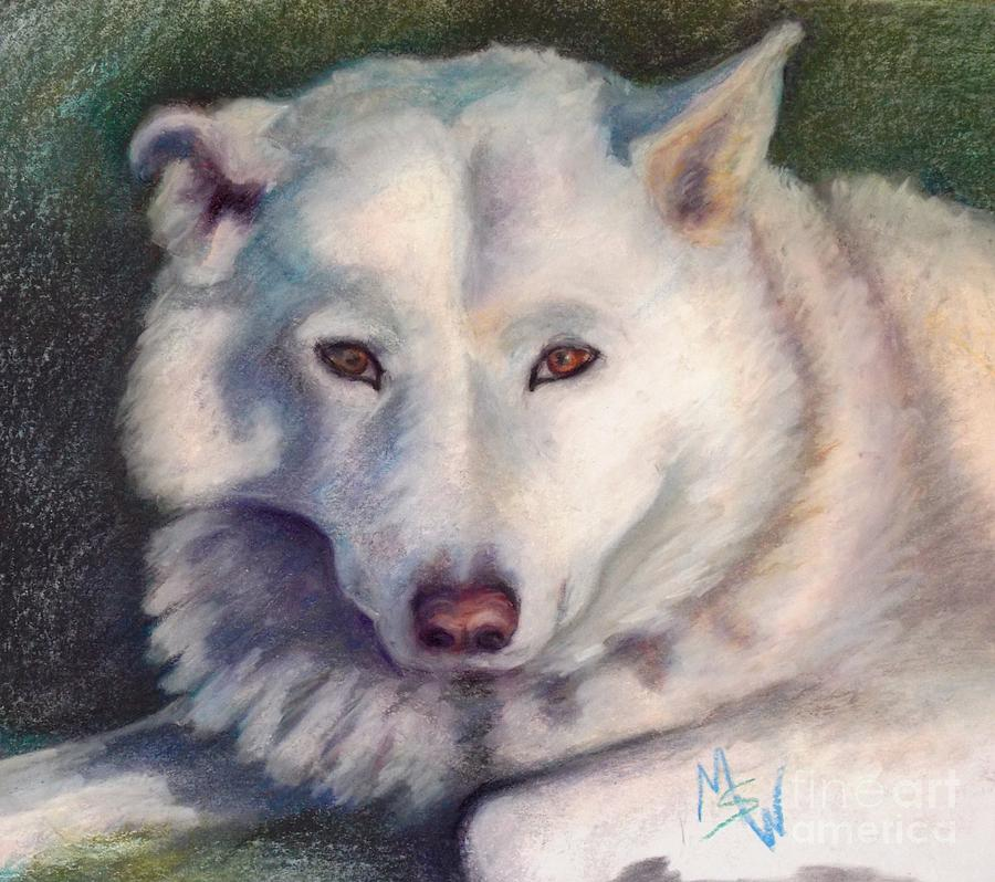 Dogs Pastel - Bear by Mindy Sue Werth