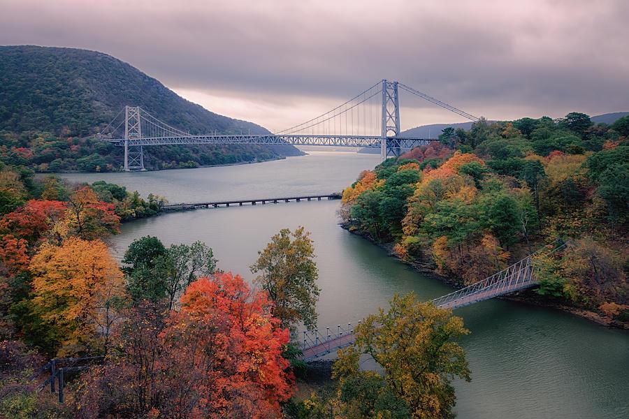 Joan Carroll Photograph - Bear Mountain Bridge by Joan Carroll