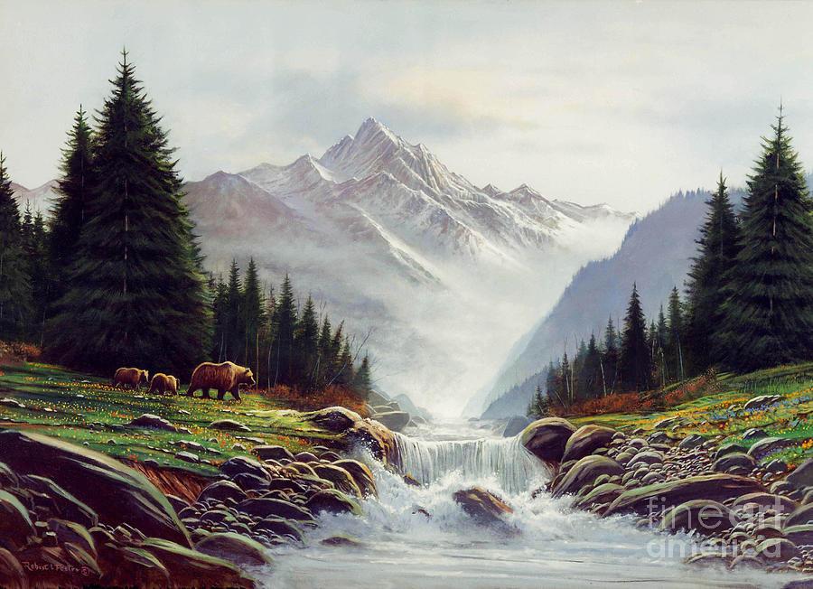 горы и лес картина этого была