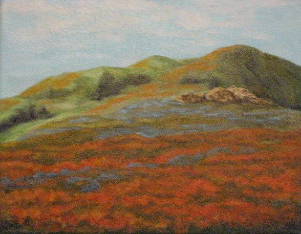 Field Painting - Bear Valley Springs by Terry Sonntag