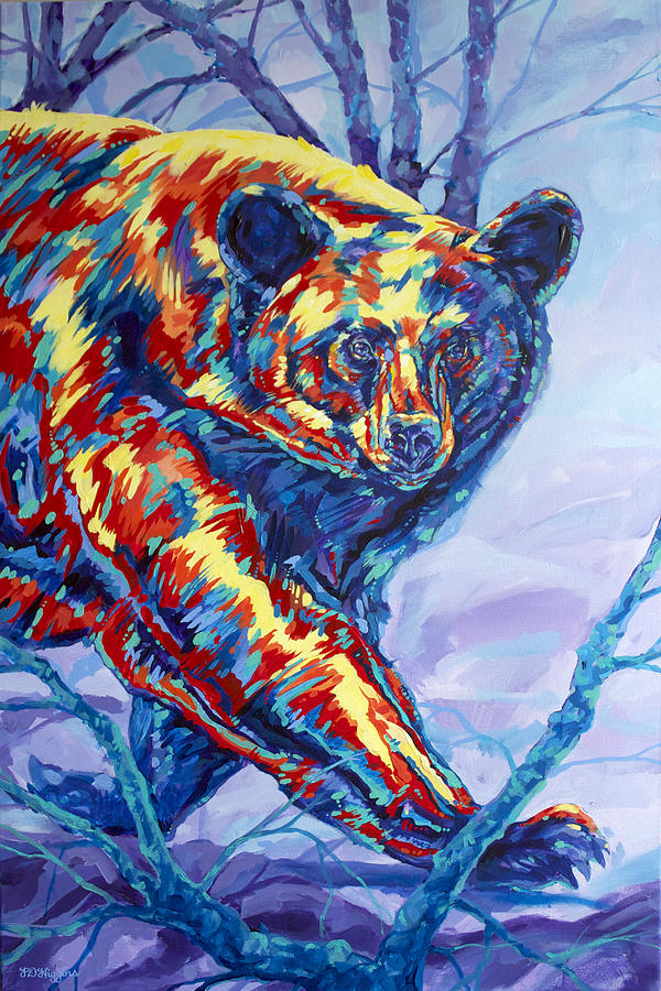 Bear Painting - Bear Walk by Derrick Higgins