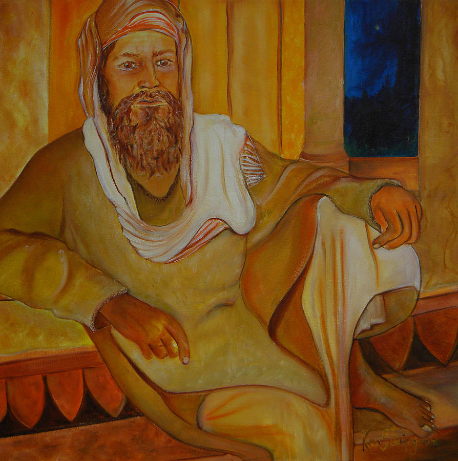 Realism Painting - Bearded Man by Ken Caffey
