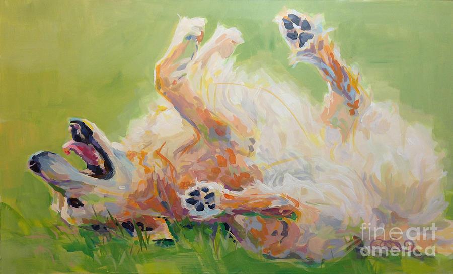 Golden Retriever Painting - Bears Backscratch by Kimberly Santini