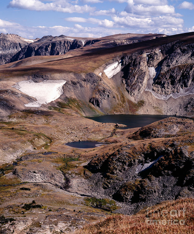 Continental Divide Photograph - Beartooth Highway Cirques by Tracy Knauer
