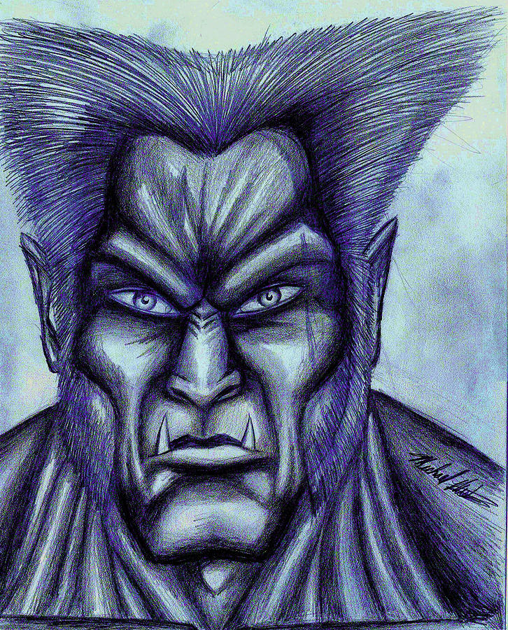 Beast Drawing - Beast by Michael Mestas