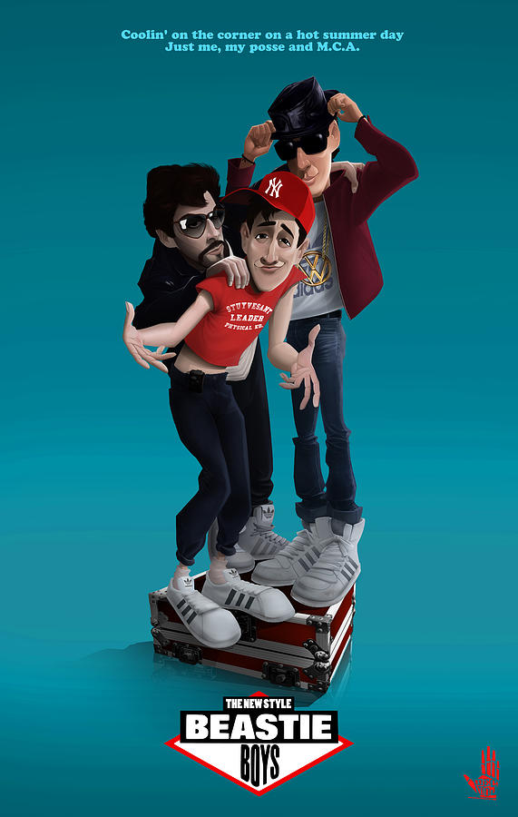 Beastie Boys Digital Art - Beastie Boys_the New Style by Nelson Dedos Garcia