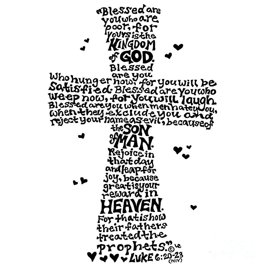 Beatitudes Cross by Leigh Eldred