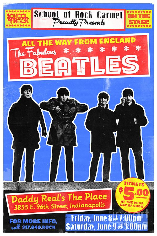 Beatles Concert Poster Mixed Media by Beatles
