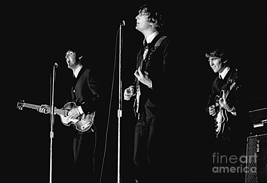 Beatles Photograph - Beatles In Concert, 1964 by Larry Mulvehill