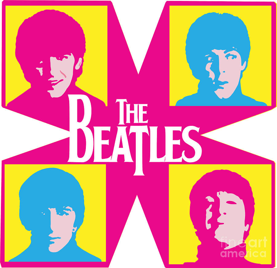 The Beatles Digital Art - Beatles Vinil Cover Colors Project No.01 by Geek N Rock