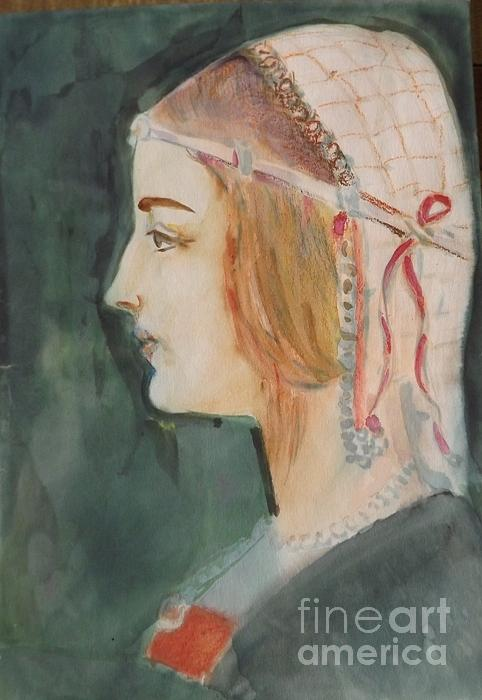 Beatrice D'este Painting - Beatrice ... Sketch by Hedwig Pen