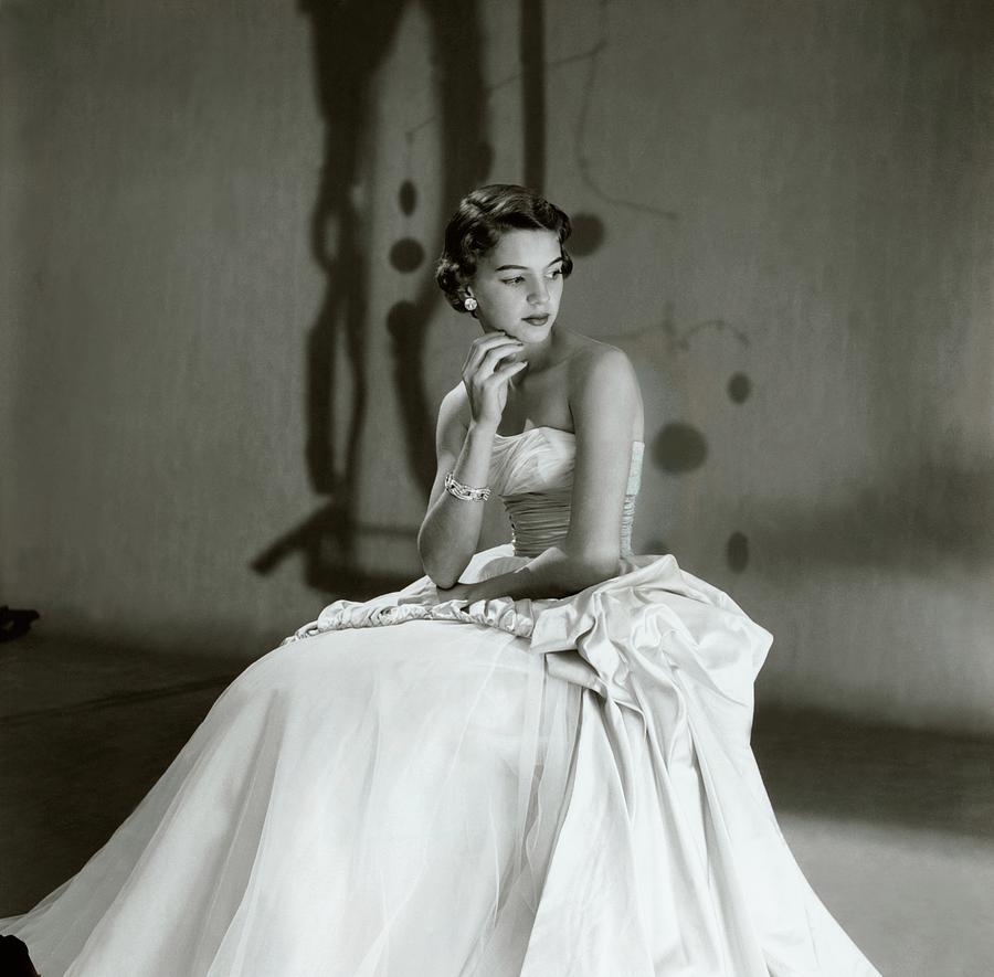 Fashion Photograph   Beatrice Wagstaff Wearing A Ceil Chapman Dress By  Horst P. Horst