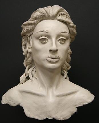 Bust Sculpture - Beatrix by Monika Degan