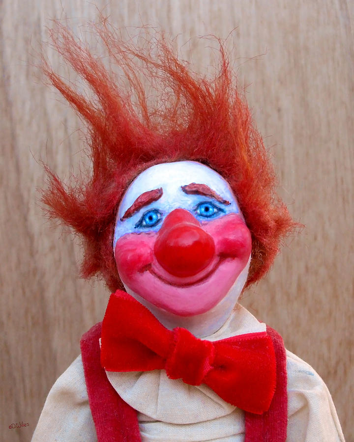 Clown Sculpture - Beau 2 by David Wiles