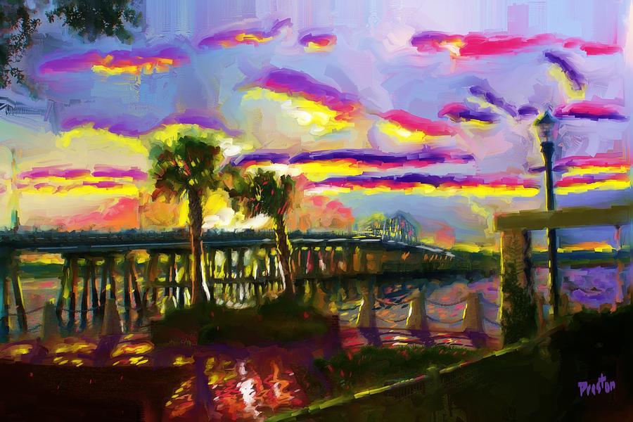 Beach Sunrise Painting - Beaufort Sunrise by Preston Sandlin