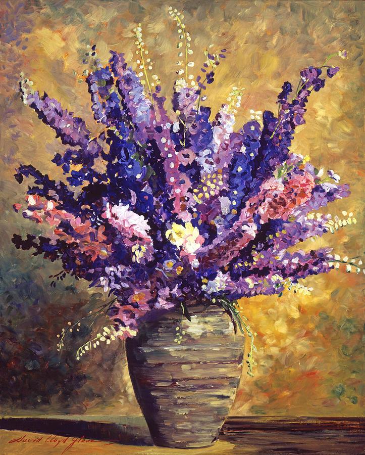 Still Life Painting - Beaujolais Bouquet by David Lloyd Glover