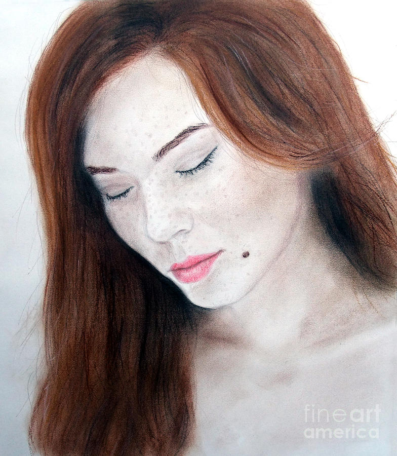 Drawing Drawing - Beautiful And Sexy Actress Jeananne Goossen II by Jim Fitzpatrick