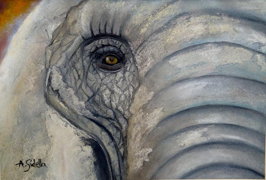 Elephants Painting - Beautiful by Annamarie Sidella-Felts