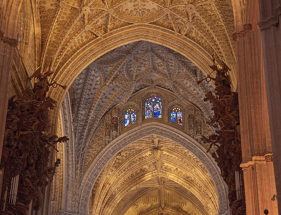 Seville Photograph - Beautiful Arches Of Seville Cathedral by Viacheslav Savitskiy
