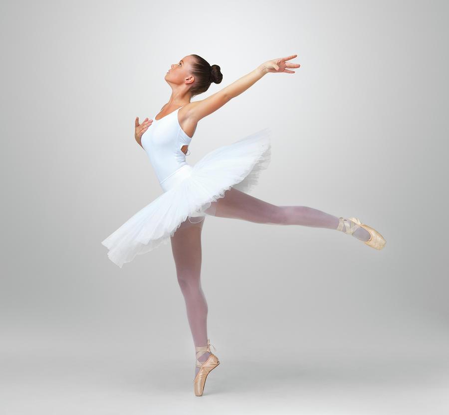 Beautiful Ballet Dancer Practicing Photograph by Yuri