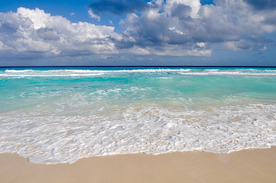 Beautiful Beach Ocean In Cancun Mexico Photograph by ...