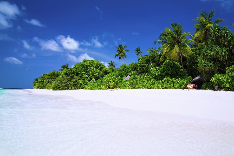 Beautiful Beach On Maldives Photograph by Sashahaltam