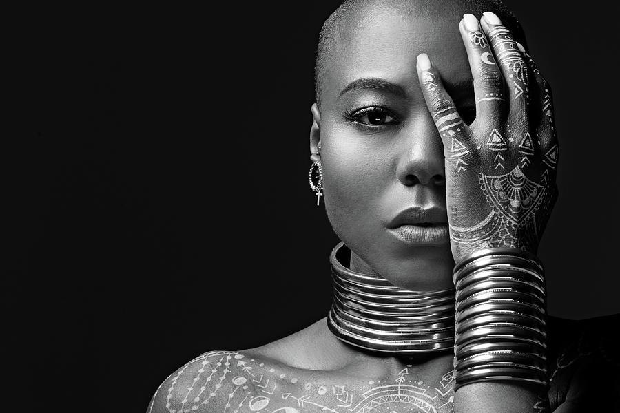 Beautiful Black Woman Wearing Jewellery Photograph by Lorado