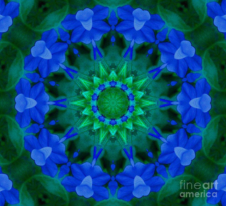 Kaleidoscope Photograph - Beautiful Blue by Annette Allman