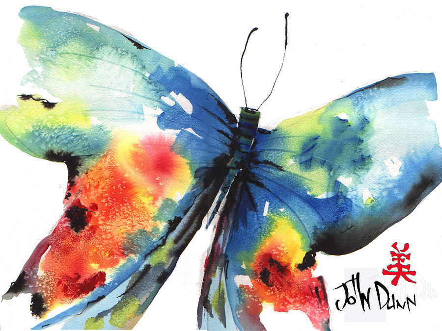 John Dunn Painting - Beautiful Butterfly by John Dunn