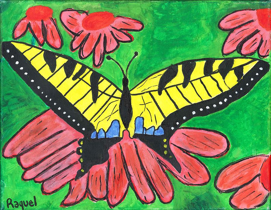 Tiger Swallowtail Painting - Tiger Swallowtail Butterfly by Raqul Chaupiz