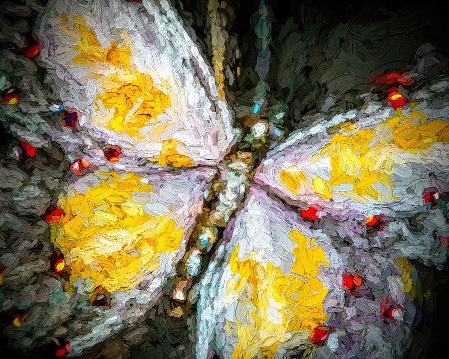 Beautiful Butterfly Ruby Jewel Abstract by Tracie Kaska