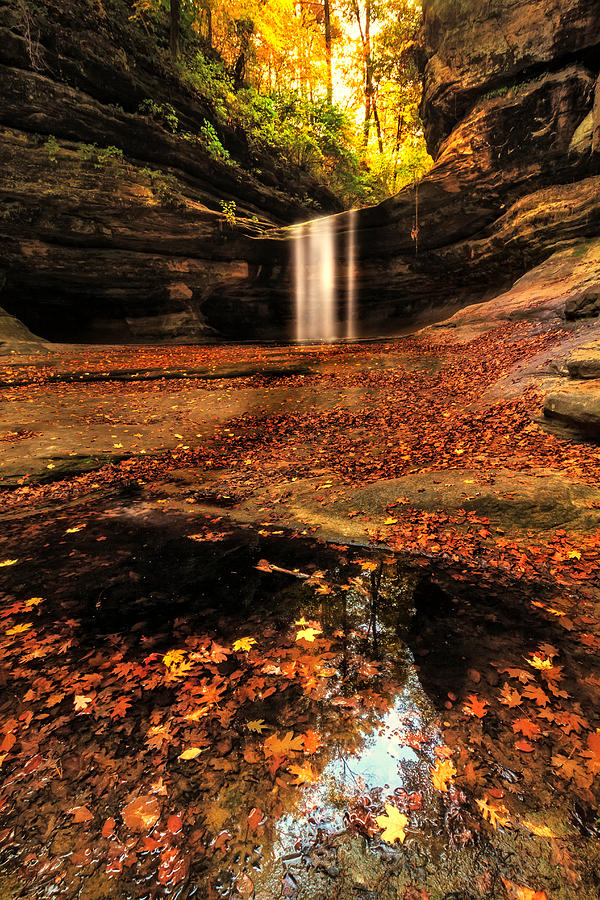 Beautiful Photograph - Beautiful Canyon And Waterfall by Sushmita Sadhukhan