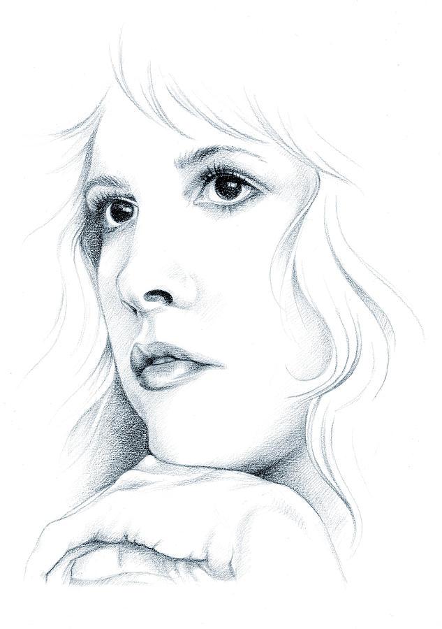 Stevie Nicks Drawing - Beautiful Child by Johanna Pieterman
